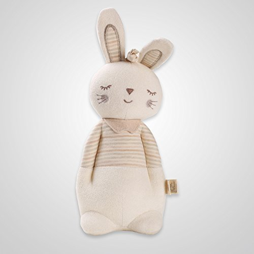 Cottonbebe Organic Pulling Soothing Musical Toy My Proud Baby Soft Toys Stuffed Toys with Dupont Sorona Rattle Toys and Squeaky Toys for Toddle and Newborn Baby (Stand Bunny)