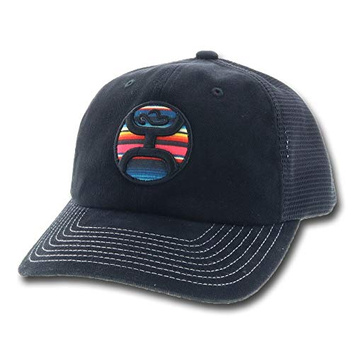 (Hooey Kalahari Black and Serape Logo Meshback Youth Cap)