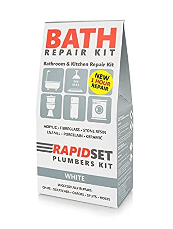 Amazon.com: BATH TUB REPAIR KIT 1 HOUR CURE - REPAIRS CRACKS ...
