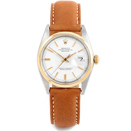 Rolex 1600 Men's 36mm Datejust Model - White Dial - Leather Band (Certified Pre-Owned) ()