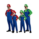 Mens and Boys Classic Game Role Costume Halloween Fancy Dress Up Size S-XL