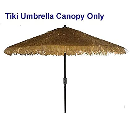 Charmant Tiki Umbrella Thatch Patio Umbrella Canopy Replacement For 9u0027 8 Ribs Patio  Umbrella Outdoor Garden