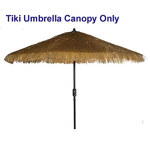 - Tiki Umbrella thatch Patio Umbrella Canopy Replacement for 9' 8 Ribs Patio Umbrella Outdoor Garden Umbrella Hula Umbrella Canopy Hawaiian Style Umbrella Canopy (Canopy Replacement, Thatched Tiki)
