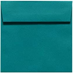 6 1/2 x 6 1/2 Square Envelopes - Teal (50 Qty.)