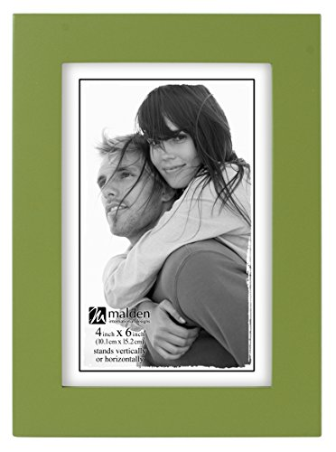 Malden International Designs Linear Classic Wood Picture Frame, 4x6, Green