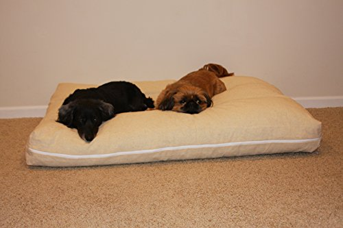 Shredded Memory Foam Dog Pet Bed Mattress with Gel, Large Size L36xW45xH6 inches Made in USA