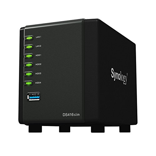 Synology 4 bay NAS DiskStation DS416slim (Diskless)