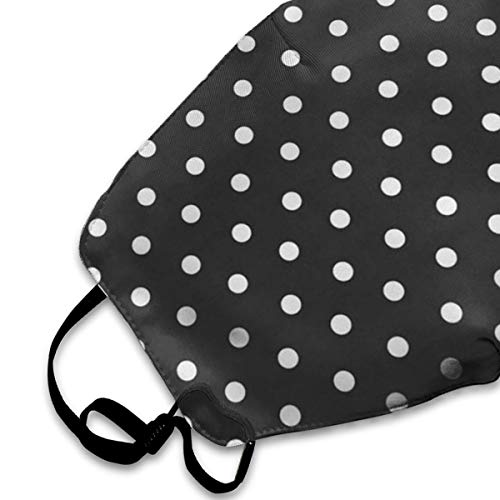 SGHGSAxbh Black and White Polka Dot Face Mask Dust Mask Anti Pollution Face Mask Washable Cotton Mouth Mask Men and Women for All Ages