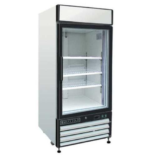 Maxx Cold MXM1-16F X-Series Reach In Freezer Single Glass Door ()