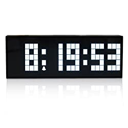 I-MART Large Big Number Digital Led Clock/Wall Alarm/Digital Calendar/Count Down Timer (White)