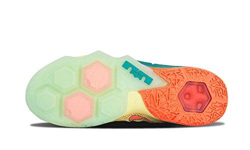 Nike Lebron Xii Bassa Prm Mens Formatori Di Pallacanestro Delle Scarpe Da Tennis 776652 Calce Bianca / Mango Luminoso