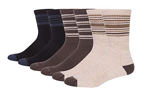 SIXDAYSOX Merino Wool Socks for Men Hiking Crew socks for Trekking, Performance & Outdoor Pack of 3 Size 7-12