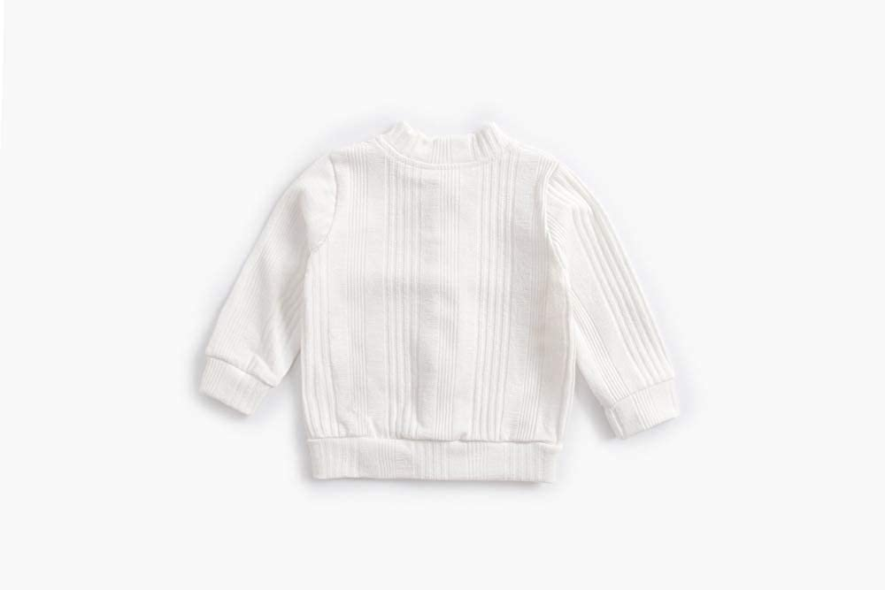 ACVIP Little Girls Cotton Knit Button Down Solid Color Cardigan