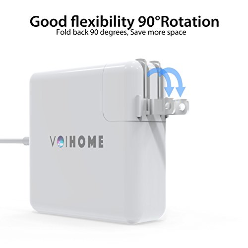 MacBook Pro Charger, Replacement of voihome 45W L-Tip MagSafe Power Adapter for Macbook Pro Charger 13-inch (Before Mid 2012 Models) (45W-L) by voihome (Image #2)