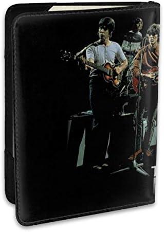 BEATLES ビートルズ - HEY JUDE VERSION 2 パスポートケース メンズ レディース パスポートカバー パスポートバッグ ポーチ 6.5インチ PUレザー スキミング防止 安全な海外旅行用 収納ポケット 名刺 クレジットカード 航空券