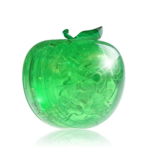 Kanzd Apple Crystal Blocks 3D Crystal Puzzle Cute Fruit Model DIY Gadget Blocks Building Toy Gift (A) ()