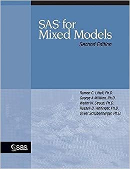 Book [(SAS for Mixed Models )] [Author: Ramon C Littell] [Mar-2006]