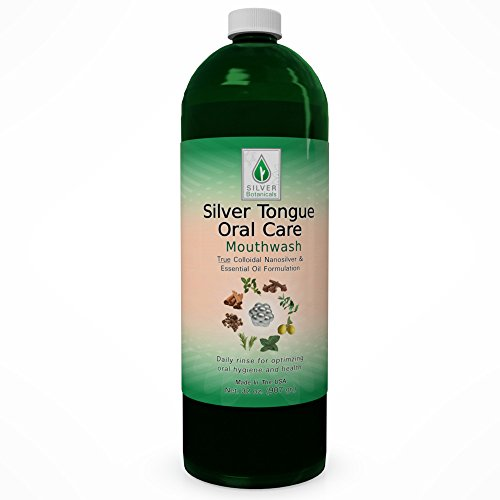 Silver Tongue Oral Care – All Natural Colloidal Silver Mouthwash, 32 oz.