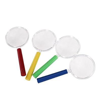 Tfxwerws 4pcs Mini loupe Plastique enfants jouet (Multicolore)