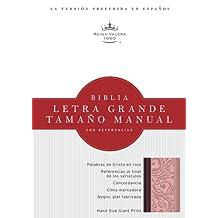 RVR 1960 Biblia Letra Grande Tamao Manual, borravino/rosado smil piel