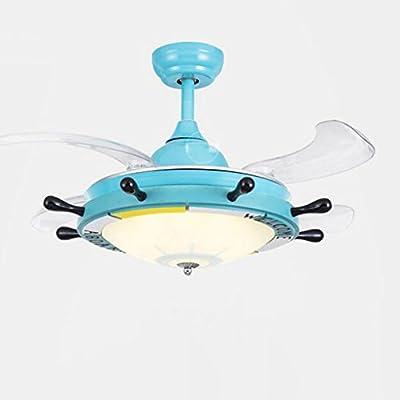 LAMP ® de dibujos animados timón azul stealth lámpara ventilador ...
