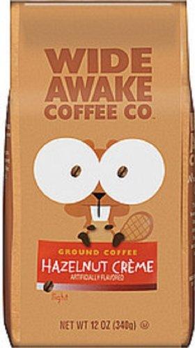 Ground Coffee Hazelnut Cream - Wide Awake Coffee Hazelnut Cream Ground Coffee, 12 Ounce