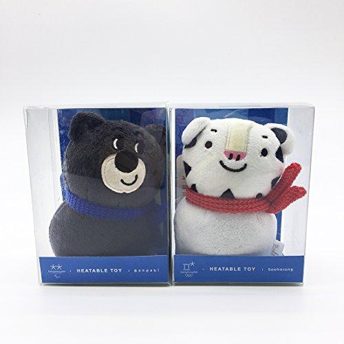 PyeongChang 2018 Winter Olympic Game Mascot Soohorang Bandabi Snowman Heatable Toy Hot Pack Doll Set