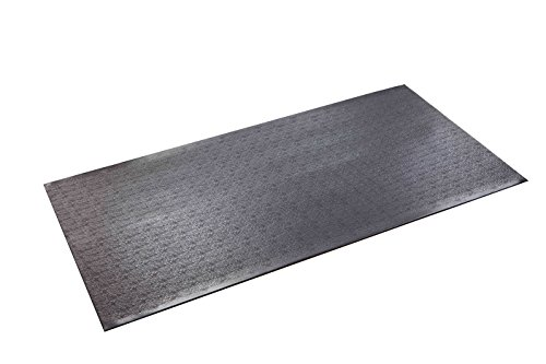 SuperMats High Density Commercial Grade Solid Equipment Mat 40GS  Made in U.S.A. for Cardio Equipment Recumbent Bikes and General Floor Mat Needs  (2.5 Feet x 5 Feet)  (30 in x 60 in) (76.2 cm x 152.4 cm) (Stepper Mat)