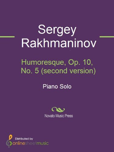 Humoresque, Op. 10, No. 5 (second version)