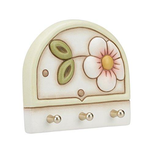 THUN Portastrofinacci 3 ganci Fiore ceramica 14,5 cm l: Amazon.it ...