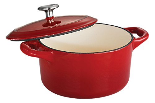 Tramontina Enameled Cast Iron Covered Small Cocotte, 24-Ounce, Gradated Red (Small Dutch Oven compare prices)