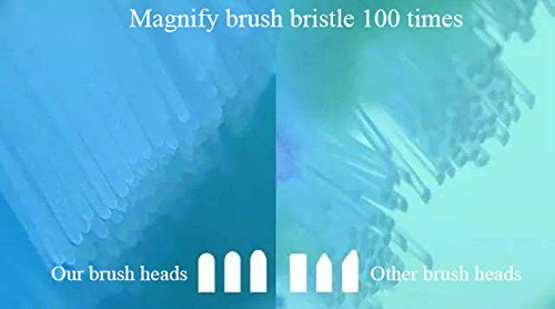 Sonicare Replacement Brush Heads For all Phillips Sonicare Electric Sonic Snap On Toothbrush Handles, DiamondClean,Gum Healthy HealthyWhite, FlexCare,EasyClean, Plaque Control, 4Pack by GUYWANG (Image #4)