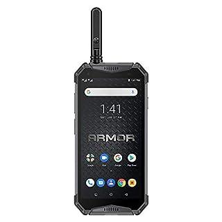 "Rugged Phones Unlocked Ulefone Armor 3WT, Walkie Talkie IP68 Waterproof Smartphone 10300mAh Battery 5.7"" FHD+ Helio P70 6GB + 64GB Android 9.0 Dual 4G Global Version Compass GPS+Glonass NFC(Black)"