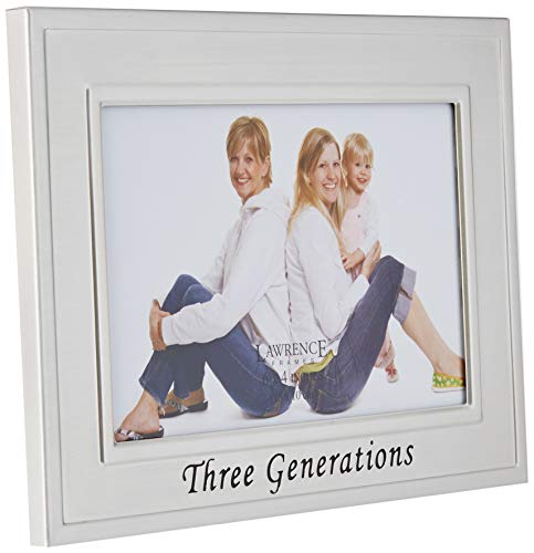 Lawrence Frames Sentiments Collection, Brushed Metal 4 by 6...