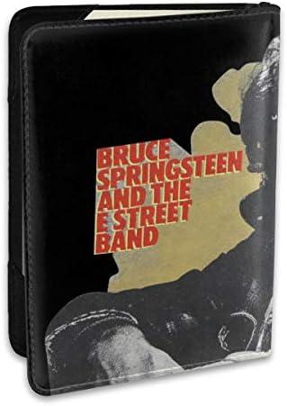 Bruce Springsteen ロング パスポートケース メンズ 男女兼用 パスポートカバー パスポート用カバー パスポートバッグ 小型 携帯便利 シンプル ポーチ 5.5インチ高級PUレザー 家族 国内海外旅行用品