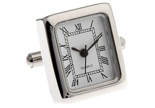 (MRCUFF Real Working Watch Pair Cufflinks in a Presentation Gift Box & Polishing)