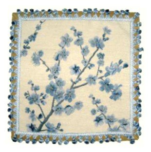 Deluxe Pillows Blue Plum - 20 x 20 in. needlepoint pillow ()