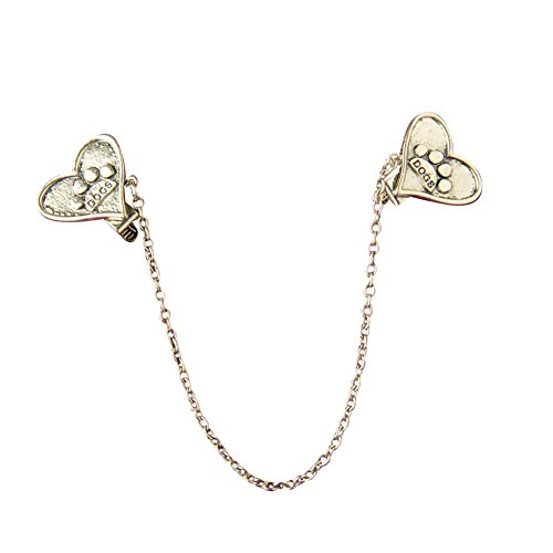 Evelots Vintage Gold Toned Heart Shaped Paw Sweater Clip, Collar (Paw Shaped Clip)