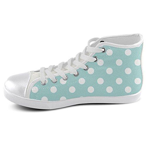 Artsadd Custom Light Blue Polka Dots High Top Canvas Shoes For Men(Model002) 7bga6igx