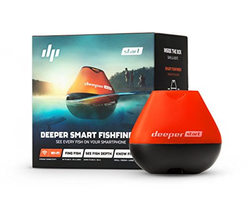 Pro Angler Fishfinder - Deeper Start Smart Fish Finder - Castable Wi-Fi Fish Finder for Recreational Fishing from Dock, Shore or Bank
