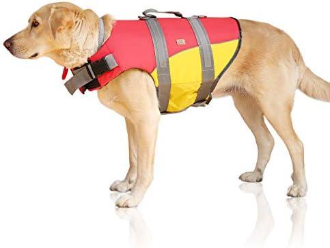 Giubbotto di salvataggio Bella & Balu per cani - Salvagente per cani riflettente per soccorso in mare (L)
