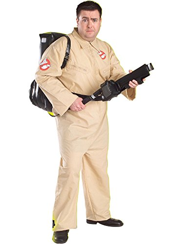 Ghostbusters Costume With Inflatable Backpack, Plus Size, Adult