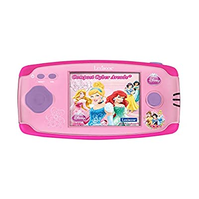 Lexibook JL2365DP Disney Princess Handheld Console with 150 Games, Compact Cyber Arcade, Pink: Toys & Games