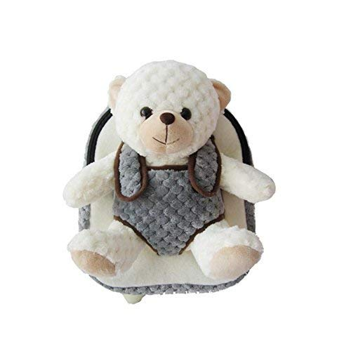 Cute Toddler Kindergarten kids Plush Backpack – With Detachable Bear Stuffed Animal for Boys and Girls -