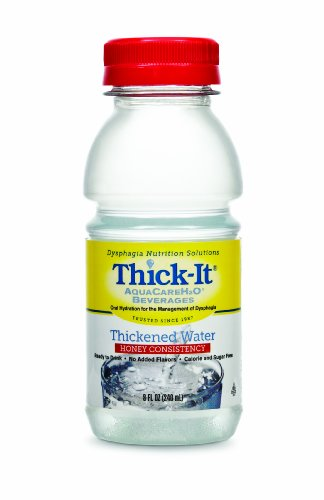 Thick-It Aquacare H2O Honey Consistency Thickened Water Beverage, 8 Ounce (Pack of 24) ()