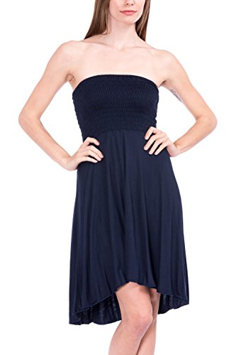 Modern Kiwi Eva High Low Dress Navy Blue Small