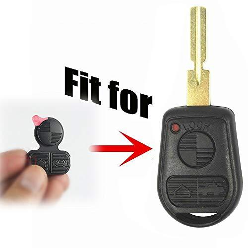 Dewangli for BMW Key Replacement Button Pad Smart Remote Key Fob Shell Case  Cover 3 Buttons Repair Pad for BMW 318i 323i 525i 528i 530i 535i 540i 735i