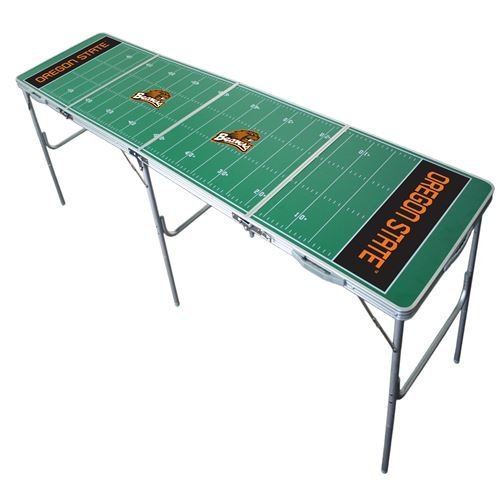 Oregon State Beavers Tailgate Table, NCAA Football Tailgating, 2x8, 8ft, Aluminum, Lightweight, Portable