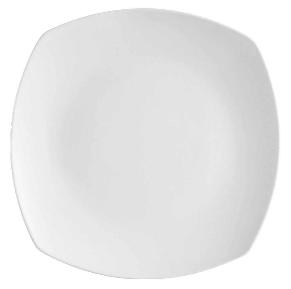 Amazon.com | CAC China H-SQ16 Porcelain Round-in-Square Plate 10-Inch Super White Box of 12 Dinner Plates Dinner Plates  sc 1 st  Amazon.com & Amazon.com | CAC China H-SQ16 Porcelain Round-in-Square Plate 10 ...