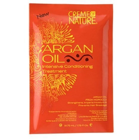 Creme of Nature Argan Oil Pudding Perfection Curl Styling Cream Packettes 12-Count by Creme of Nature (Creme Of Nature Argan Oil Pudding Perfection)